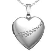 Sterling Silver   Sweetheart   Cascade of Hearts  Heart Locket