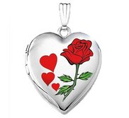 Sterling Silver  Valentines  Sweetheart  Heart Locket