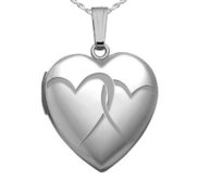 Sterling Silver  Interlocking Hearts  Heart Locket