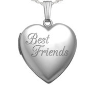 Sterling Silver  Best Friends   Heart Locket