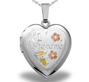 Sterling Silver HEART  1 Grandma Locket