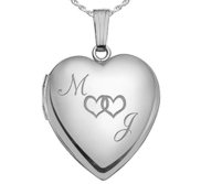 Sterling Silver  Together Forever  Heart Locket
