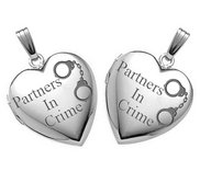 Sterling Silver  Partners in Crime  Locket Sets