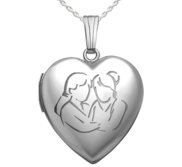 Sterling Silver   Sister s Devotion   Heart Locket