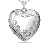 Sterling Silver Heart Four Photo Locket