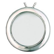 Sterling Silver Round Glass Locket