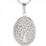 Sterling Silver Tree of Life Oval