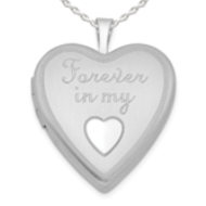 Sterling Silver  Forever in my Heart  Heart  Locket