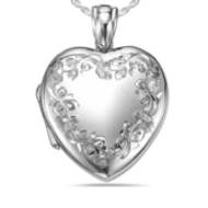 Sterling Silver  Premium Weight  Heart Locket