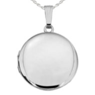 Sterling Silver Round Picture Locket