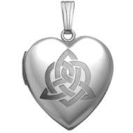 Sterling Silver   Sister s Love   Celtic Heart Locket