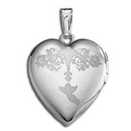 "Sterling Silver  ""Sweetheart"" Valentine's Day Heart Locket"