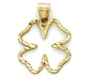 14K Yellow Gold Celtic Charm