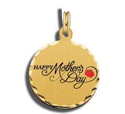Mother s Day Happy Mother s Day Red Rose Charm