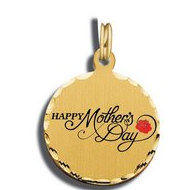 Mother's Day Happy Mother's Day Red Rose Charm