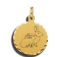 Rabbit Charm Black   White