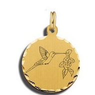 Hummingbird Charm Black   White