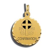 Confirmation Charm Black   White