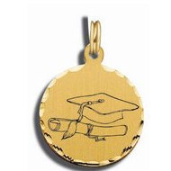 Graduation Charm Black   White