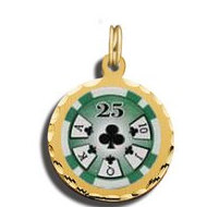 $25 Poker Chip Charm