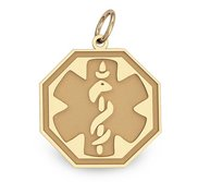 14K Filled Gold Octagon Medical Charm