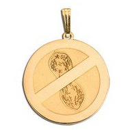 14K Gold  Peanut Allergies   Pendant