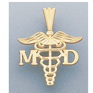 14k Filled Gold M.D. PENDANT