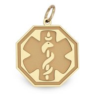 14K Filled Gold Medical Pendant