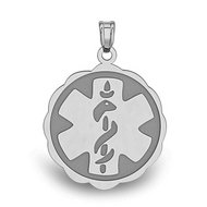 STAINLESS STEEL MEDICAL EMBLEM PENDANT