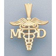 14k GOLD M.D. PENDANT