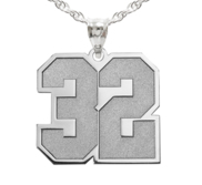 Jersey Number Charm or Pendant with 2 Digits