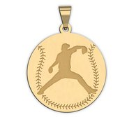 Baseball w  Pitcher Silhouette Medal