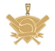 Personalized Baseball Crest Pendant or Charm