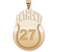 Custom Baseball Charm or  Pendant w  Name   Number