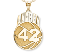 Custom Basketball Pendant w  Name   Number