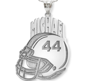 Custom Football Helmet Pendant w  Name   Number