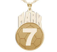 Custom Soccer Pendant w  Name   Number