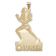Custom Female Track or Runner Charm or Pendant