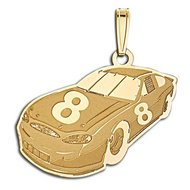 Custom Racecar Charm or Pendant w/Number