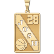 Personalized Basketball Pendant w  Cut out Name   Number