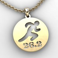 Running or Jogging silhouette Cut Out Pendant with Name