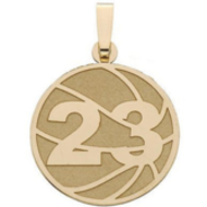 Custom Basketball Charm or  Pendant w/ Number