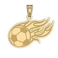Flaming Soccer Ball Pendant or Charm