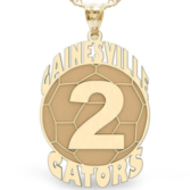 Custom Team Soccer Charm with Number