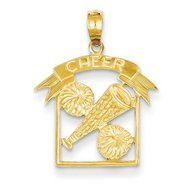 Cheerleader  Cheer  Charm or  Pendant