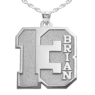 New  Personalized Jersey Number Pendant with 2 Digits