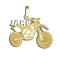 Custom Motorcross Bike Charm or  Pendant w  Name   Number