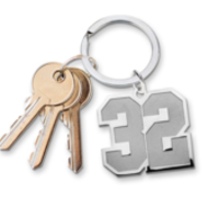 New  Jersey Single Number Keychain with one Digit