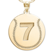 Custom Baseball  Pendant w/  Number