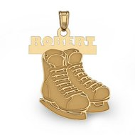 Custom Hockey Skates with Name Charm or  Pendant